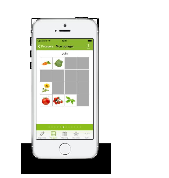 Application iphone ipad et android pour votre jardin potager for Application miroir pour ipad
